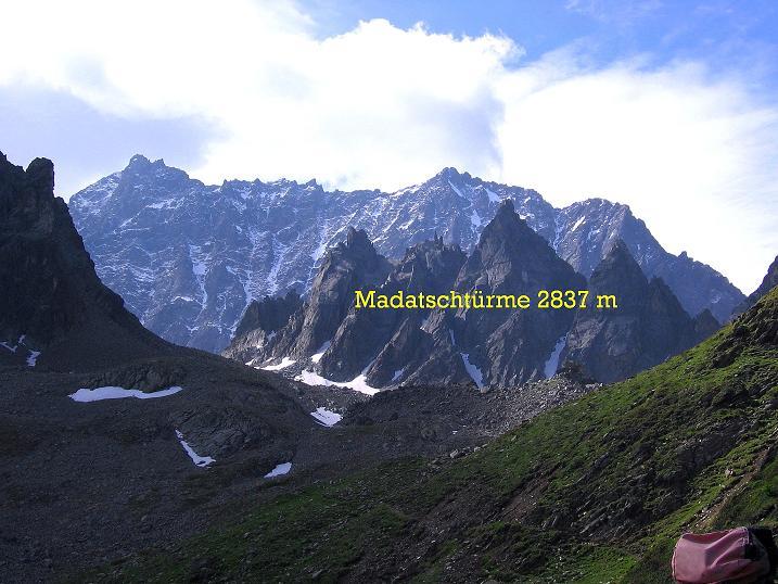 Foto: Andreas Koller / Kletter Tour / Überschreitung der Madatschtürme (2837m) / 16.07.2009 17:45:56