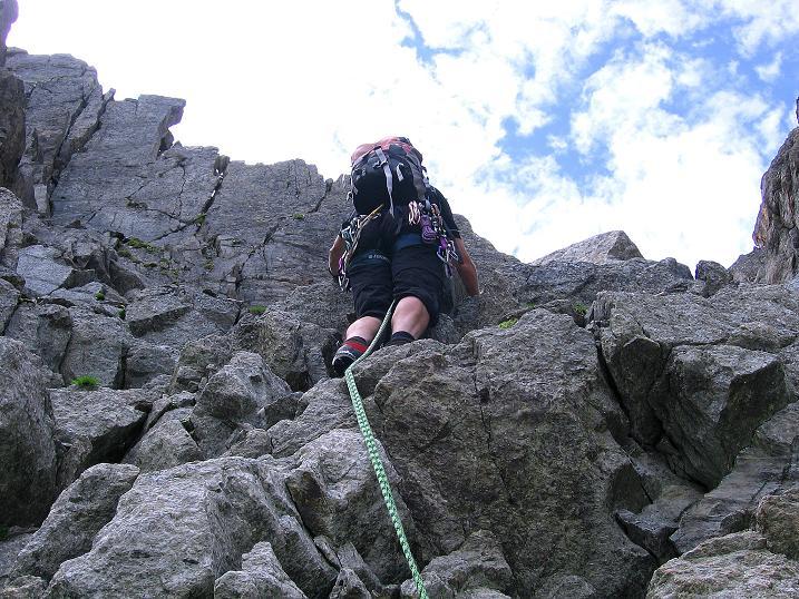 Foto: Andreas Koller / Kletter Tour / Überschreitung der Madatschtürme (2837m) / Beginn der Kletterpartie / 16.07.2009 17:37:10