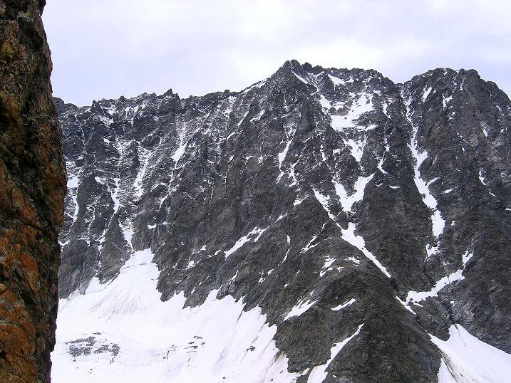 Foto: Andreas Koller / Kletter Tour / Überschreitung der Madatschtürme (2837m) / Blick auf die Watzespitze (3532 m) / 16.07.2009 17:32:18