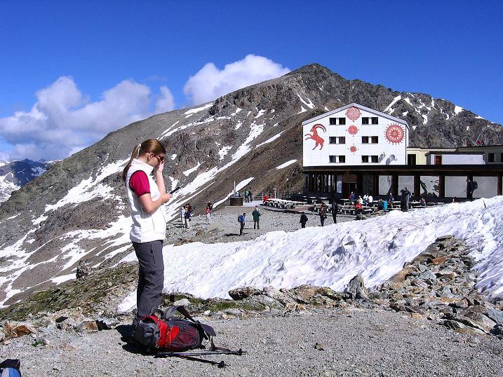 Foto: Andreas Koller / Klettersteig Tour / Klettersteig Piz Trovat (3146m) / Bergstation und Munt Pers (3203 m) / 18.07.2009 00:15:56