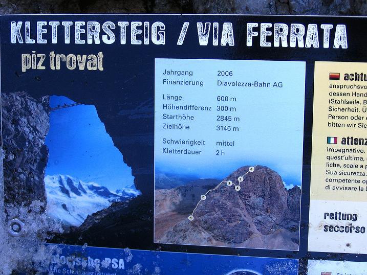Foto: Andreas Koller / Klettersteig Tour / Klettersteig Piz Trovat (3146m) / 18.07.2009 00:14:22