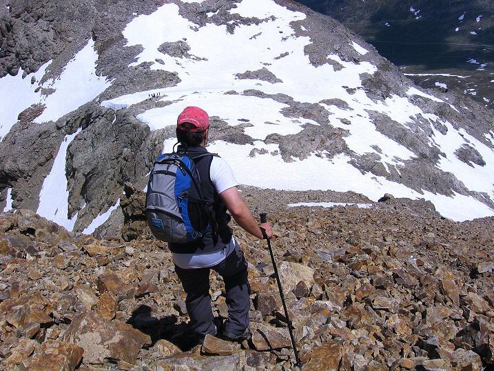 Foto: Andreas Koller / Klettersteig Tour / Klettersteig Piz Trovat (3146m) / Der kurze Abstieg / 18.07.2009 00:05:32