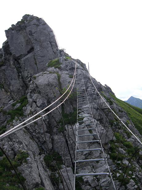 Foto: Andreas Koller / Klettersteig Tour / Klettersteig Brunnistöckli (2030m) / 2. Brücke / 15.07.2009 02:12:53