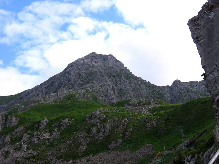 Foto: Andreas Koller / Klettersteig Tour / Klettersteig Brunnistöckli (2030m) / Blick auf den Rigidalstock (2593 m) / 15.07.2009 02:12:12