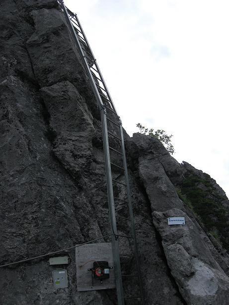 Foto: Andreas Koller / Klettersteig Tour / Klettersteig Brunnistöckli (2030m) / Die Himmelsleiter / 15.07.2009 02:11:35