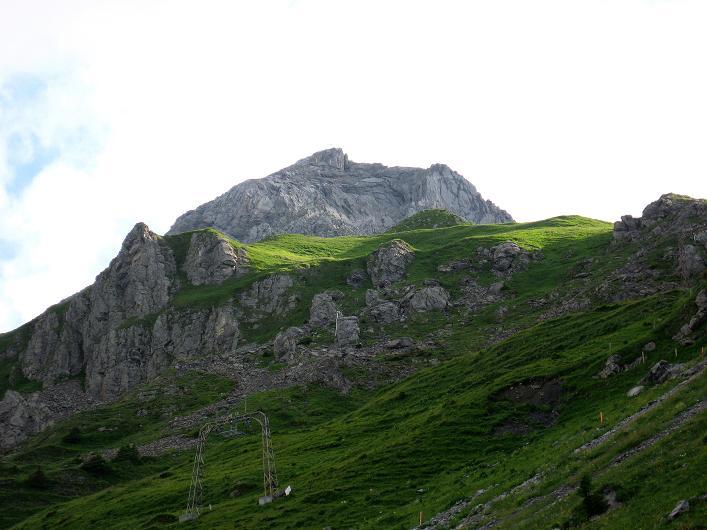 Foto: Andreas Koller / Klettersteig Tour / Klettersteig Rigidalstock (2593 m) / Der Rigidalstock von der Brunnihütte / 15.07.2009 02:07:15