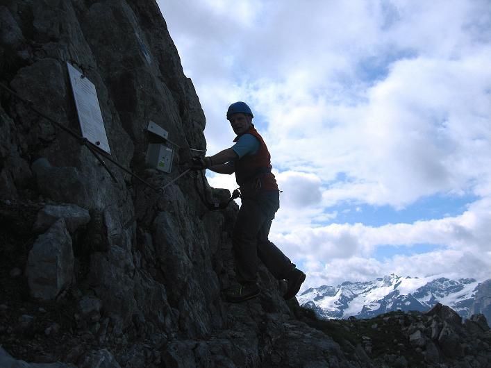 Foto: Andreas Koller / Klettersteig Tour / Klettersteig Rigidalstock (2593 m) / Der Einstieg / 15.07.2009 02:04:25