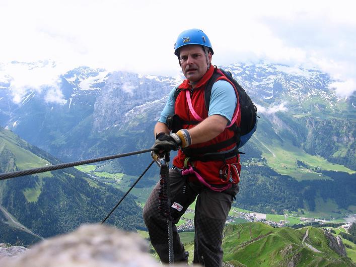 Foto: Andreas Koller / Klettersteig Tour / Klettersteig Rigidalstock (2593 m) / Zur folgenden Plattenwand / 15.07.2009 02:03:07