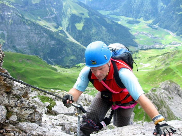 Foto: Andreas Koller / Klettersteig Tour / Klettersteig Rigidalstock (2593 m) / 15.07.2009 02:02:33