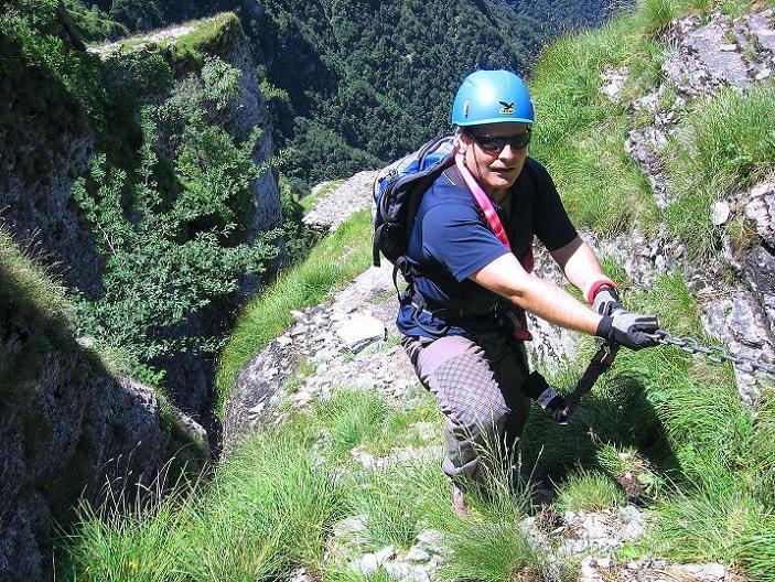 Foto: Andreas Koller / Klettersteig Tour / Via ferrata Angelino (1701 m) / 16.07.2009 23:25:13