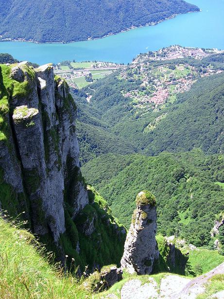 Foto: Andreas Koller / Klettersteig Tour / Via ferrata Angelino (1701 m) / Luganer See / 16.07.2009 23:22:29