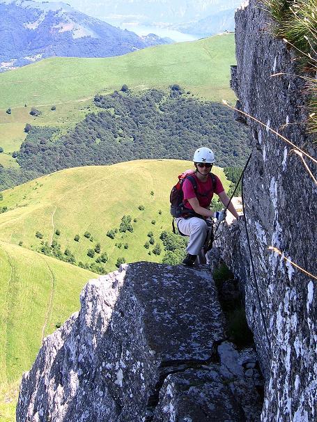 Foto: Andreas Koller / Klettersteig Tour / Via ferrata Angelino (1701 m) / Es wird luftiger! / 16.07.2009 23:21:52