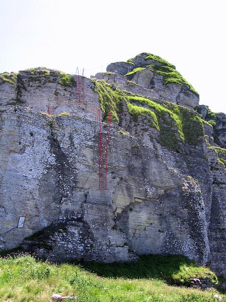 Foto: Andreas Koller / Klettersteig Tour / Via ferrata Angelino (1701 m) / Ausstieg (oder Einstieg) auf einer Grasschulter / 16.07.2009 23:16:58