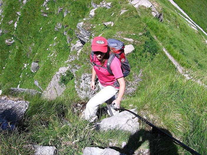 Foto: Andreas Koller / Klettersteig Tour / Via ferrata Angelino (1701 m) / N-Grat auf den Monte Generoso / 16.07.2009 23:15:31