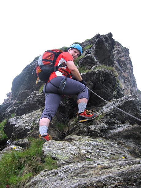Foto: Andreas Koller / Klettersteig Tour / Klettersteig Graustock (2662 m) / Der zweite, deutlich anspruchsvollere Steilaufschwung / 15.07.2009 23:53:27
