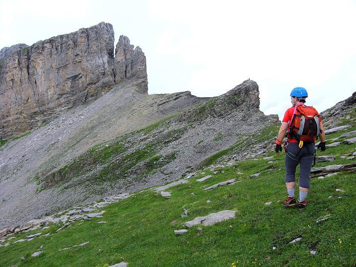 Foto: Andreas Koller / Klettersteig Tour / Klettersteig Graustock (2662 m) / Gehgelände zum Pfeiler / 15.07.2009 23:51:36