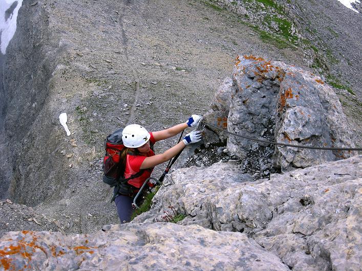 Foto: Andreas Koller / Klettersteig Tour / Klettersteig Graustock (2662 m) / Ausstieg aus dem Pfeiler / 15.07.2009 23:48:24