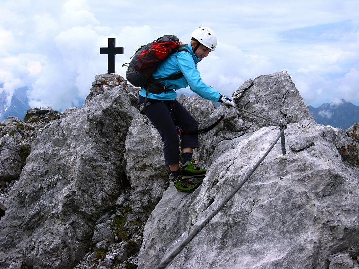 Foto: Andreas Koller / Klettersteig Tour / Klettersteig Graustock (2662 m) / Abklettern am Grat / 15.07.2009 23:42:17