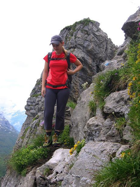 Foto: Andreas Koller / Klettersteig Tour / Klettersteig Graustock (2662 m) / Steilstufe ins Schaftal / 15.07.2009 23:39:44