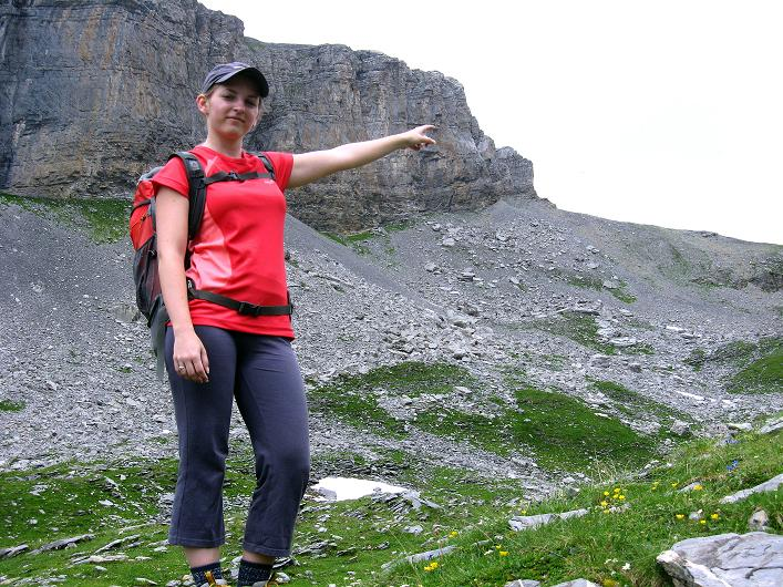 Foto: Andreas Koller / Klettersteig Tour / Klettersteig Graustock (2662 m) / Genau dort ist der ausgesetzte Pfeiler! / 15.07.2009 23:39:15