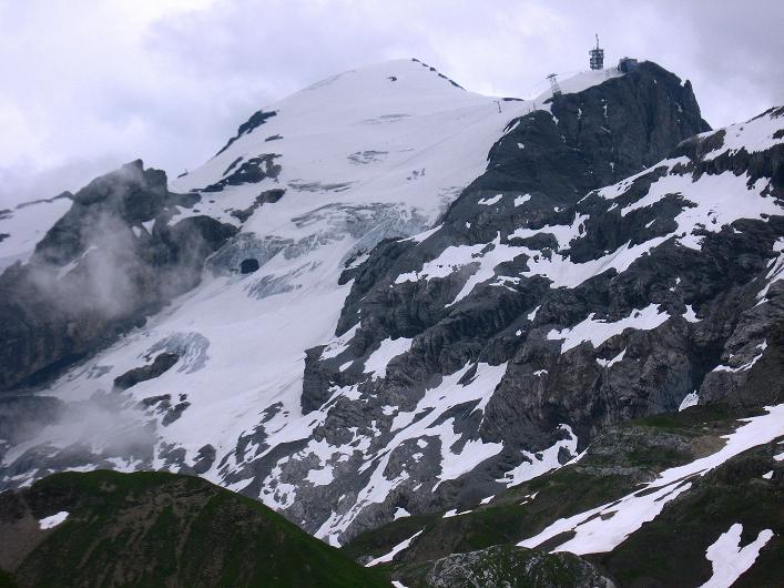 Foto: Andreas Koller / Klettersteig Tour / Klettersteig Graustock (2662 m) / Der Titlis zeigt seine vergletscherte Seite (3239 m) / 15.07.2009 23:38:36