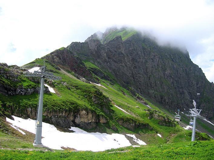 Foto: Andreas Koller / Klettersteig Tour / Klettersteig Graustock (2662 m) / Nochmals schweift der Blick zum Graustock / 15.07.2009 23:37:26