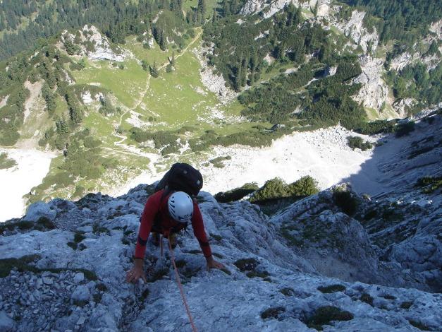 Foto: Manfred Karl / Kletter Tour / Scheffauer Nordwand Ostlerführe / 17.07.2009 18:32:38