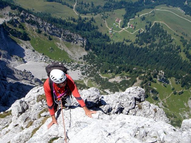 Foto: Manfred Karl / Kletter Tour / Scheffauer Nordwand Ostlerführe / Ausstieg aus der Nordwand / 17.07.2009 18:35:33