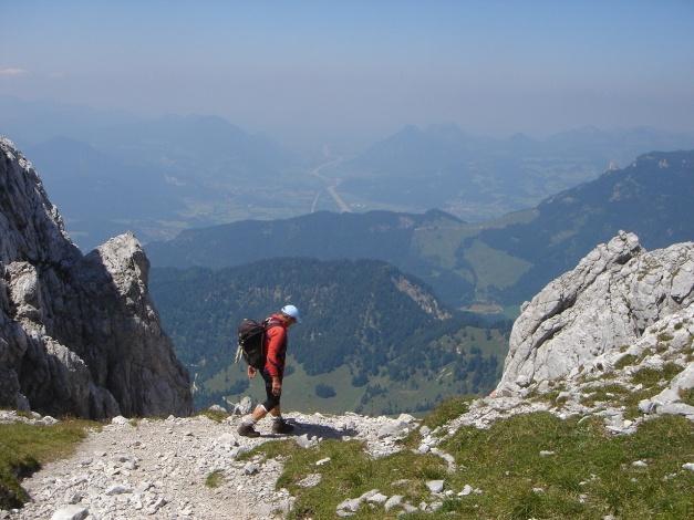 Foto: Manfred Karl / Kletter Tour / Scheffauer Nordwand Ostlerführe / Ausstieg des Widauersteiges / 17.07.2009 18:37:15
