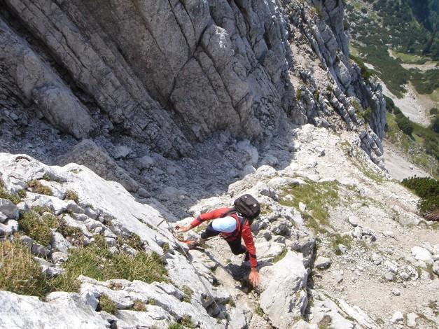 Foto: Manfred Karl / Kletter Tour / Scheffauer Nordwand Ostlerführe / Widauersteig / 17.07.2009 18:38:34