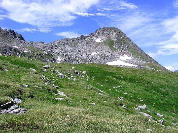 Foto: Andreas Koller / Wander Tour / Schöderkogel über S-Grat und NW-Grat (2500m) / Der Schöderkogel taucht auf / 18.07.2009 20:01:55
