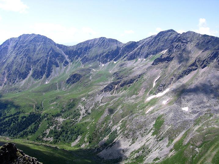 Foto: Andreas Koller / Wander Tour / Schöderkogel über S-Grat und NW-Grat (2500m) / Das Rupprechtseck (2592 m) im W / 18.07.2009 20:00:48