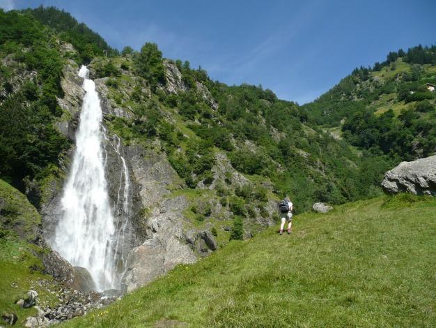 Foto: Manfred Karl / Wander Tour / Durch das Zieltal zur Lodnerhütte / Partschinser Wasserfall / 31.08.2009 15:00:39