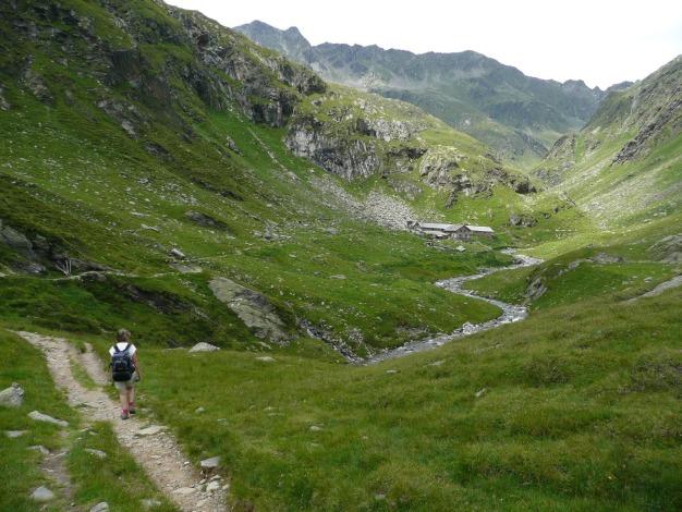 Foto: Manfred Karl / Wander Tour / Durch das Zieltal zur Lodnerhütte / Vor der Zielalm / 31.08.2009 14:55:42