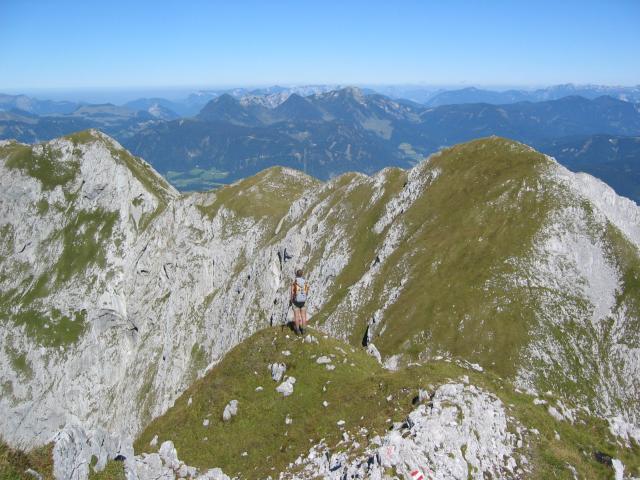 Foto: pepi4813 / Wander Tour / Tagweide – Hochkarfelderkopf Überschreitung / Blick vom Hochkarfelderkopf zur Tagweide / 19.07.2009 10:16:49