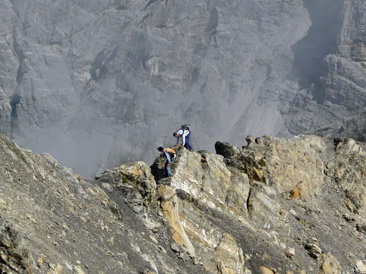 Foto: vince 51 / Wander Tour / von der Formarinalpe auf die Rote Wand / auf dem Nordgrat / 18.07.2009 23:29:35