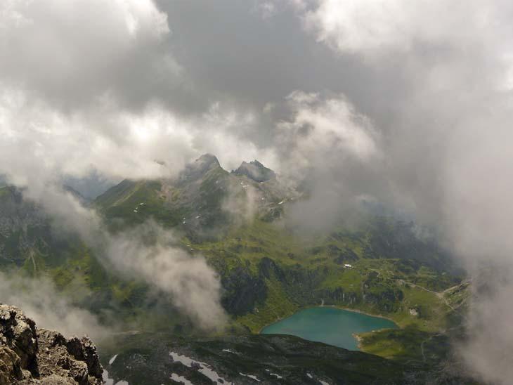 Foto: vince 51 / Wander Tour / von der Formarinalpe auf die Rote Wand / Blick nach Süden / 18.07.2009 23:28:16