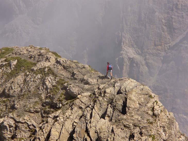 Foto: vince 51 / Wander Tour / von der Formarinalpe auf die Rote Wand / auf dem Nordgrat / 18.07.2009 23:30:16