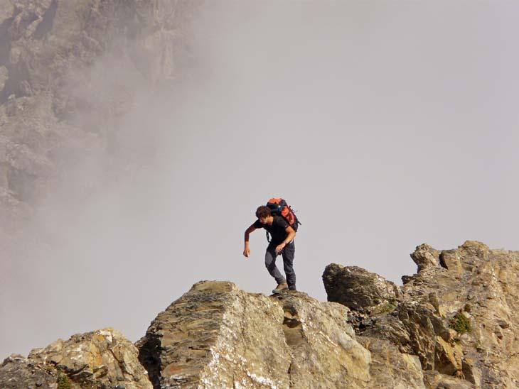 Foto: vince 51 / Wander Tour / von der Formarinalpe auf die Rote Wand / auf dem Nordgrat / 18.07.2009 23:30:37