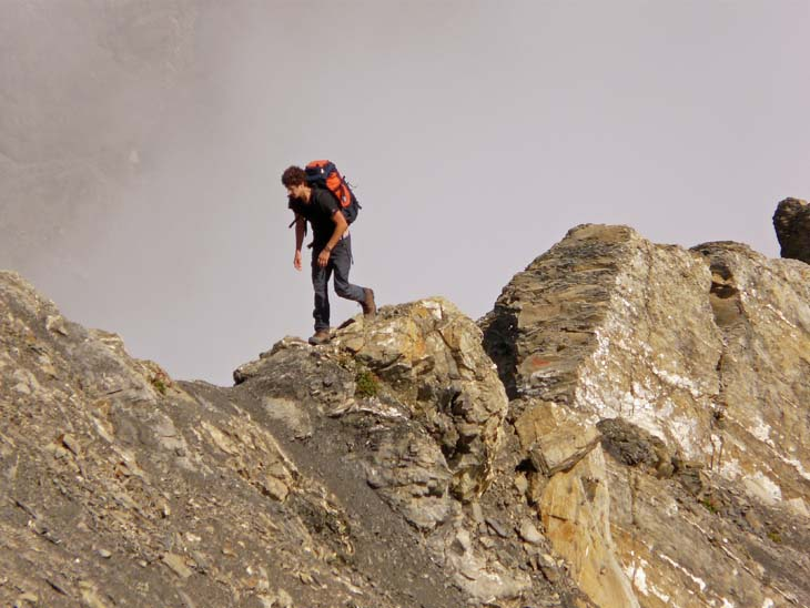 Foto: vince 51 / Wander Tour / von der Formarinalpe auf die Rote Wand / auf dem Nordgrat / 18.07.2009 23:30:55