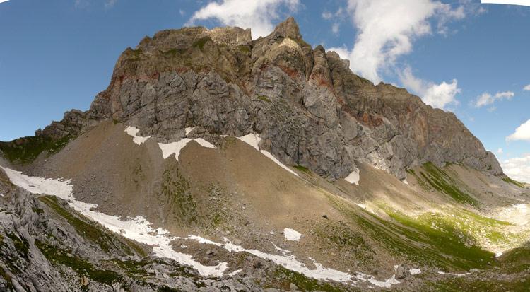 Foto: vince 51 / Wander Tour / von der Formarinalpe auf die Rote Wand / Rote Wand von Süden / 18.07.2009 23:34:18