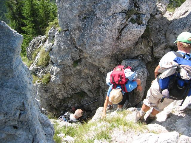 Foto: pepi4813 / Wander Tour / Von der Gasslhöhle zum Gasslkogel / Aufstiegskamin / 19.07.2009 11:16:49