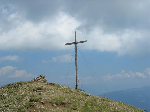 Foto: pepi4813 / Wander Tour / Von Spiluck auf die Karspitze / Gipfelkreuz Karspitze / 19.07.2009 20:25:49