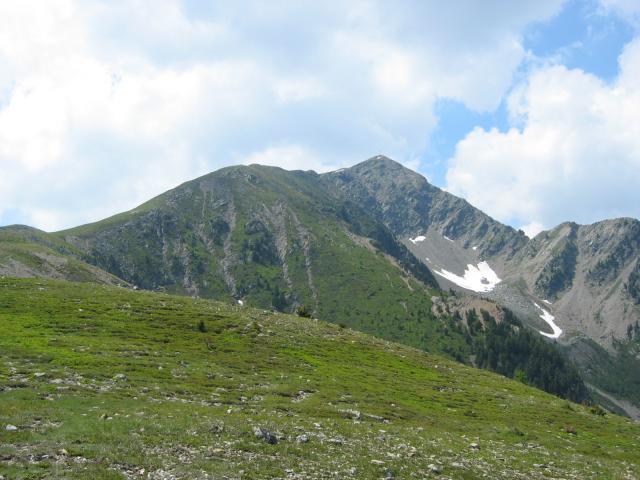 Foto: pepi4813 / Wander Tour / Von Spiluck auf die Karspitze / Blick von der Zirmait Alm zur Karspitze / 19.07.2009 20:24:21
