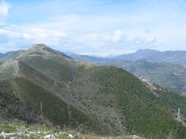 Foto: pepi4813 / Wander Tour / Von Borghetto Santo Spirito auf den Monte Croce / Blick vom Monte Croce nach Norden / 19.07.2009 21:14:54