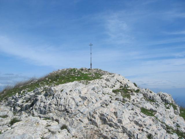Foto: pepi4813 / Wander Tour / Von Borghetto Santo Spirito auf den Monte Croce / Gipfelkreuz Monte Croce / 19.07.2009 21:15:11