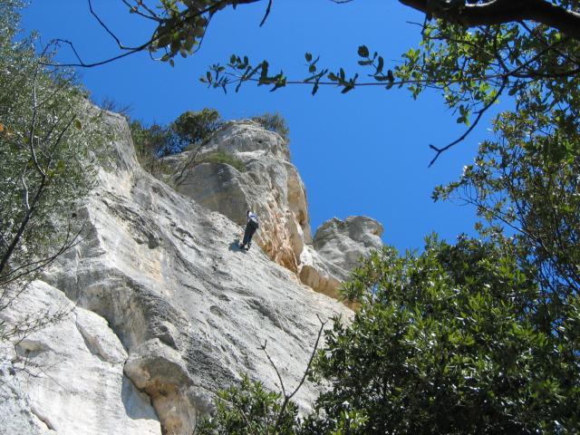 Foto: pepi4813 / Rad Tour / Bike & Hike zur Rocca di Corno / Kletterer in der Rocca di Corno / 19.07.2009 21:32:51