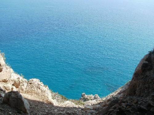Foto: Alpina / Wander Tour / Küstenwanderung von Varigotti nach Noli / Blick in der Grotta aufs Meer / 23.10.2013 19:41:13