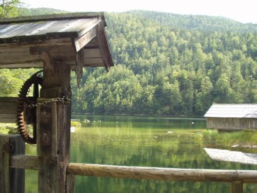 Foto: hofsab / Mountainbike Tour / Ausseer Seentour über Klaushöfl (1198 m) / idylle bei  der Fischerhütte / 26.08.2009 12:35:54