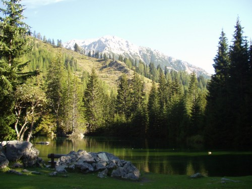 Foto: hofsab / Mountainbike Tour / Filmooser Almentour über Hofalmen und Sulzenalm (1612 m) / Almsee bei der Oberhofalm / 26.08.2009 12:43:16